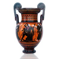 Classical Black figure Attic bell Krater