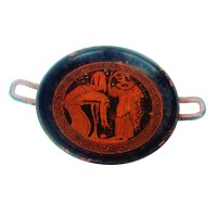 Classical red figure Attic Kylix