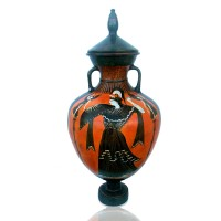 Classical black figure Attic Amphora