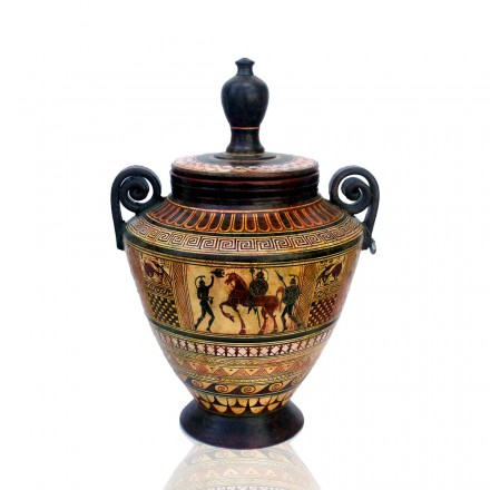 Pyxis with handles